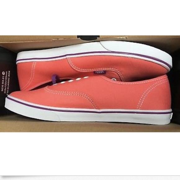 7611a18c5f2e1f Vans Authentic Lo Pro Pop Persimmon Sparkling Shoe